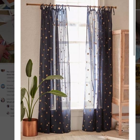 Star window panel curtains (2)